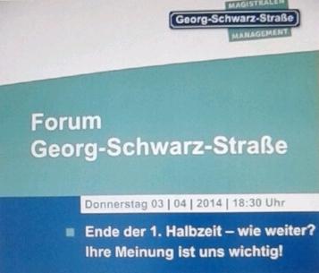 Auszug aus Plakat zum Forum Georg-Schwarz-Straße